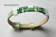 japanese silk and Miyuki beads kanzashiland
