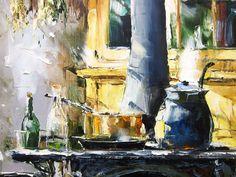 'Country Kitchen' by Gleb Goloubetski - Oil on Canvas - 100cm x 80cm