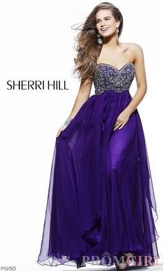 Sherri Hill Strapless Evening Gown, Long Prom Dresses, PromGirl