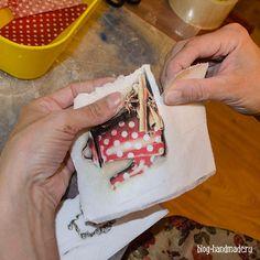 Пошаговый фото мастер класс по декупажу домика для чайных пакетиков