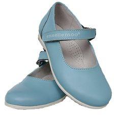 ennellemoo® -Mädchen-Kinder-Ballerinas-echt Leder-Schuhe-Halbschuhe-Pumps-Slipper-Klettverschluss-Vollederschuhe für Schule-Fest-Party-PREMIUMSCHUHE MADE IN EU! (33, blau/himmelblau)