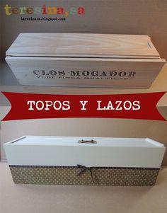 Caja de vino reciclada Hacks Diy, Decoupage, Chalk Paint, Ideas Para, Decorative Boxes, Shabby, Pots, Wine Boxes, Storage