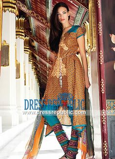 House of Ittehad Summer Embroidered Izabell Lawn Suits 2014   by www.dressrepublic.com
