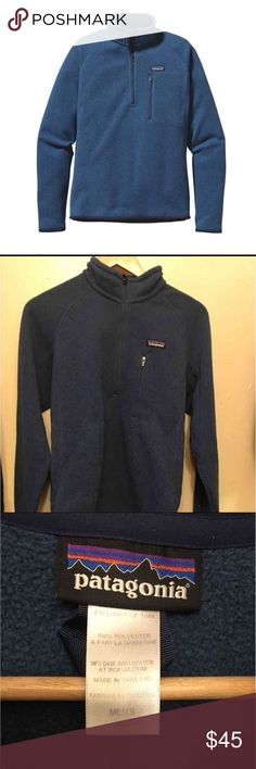 Patagonia Better sweater 1/4 Zip Men's Small Blue. 2013 style. Minimal pilling. Great condition. Patagonia Sweaters Zip Up