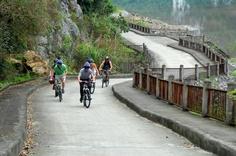 Biking in Cat Ba island with Au Co Cruise Itinerary!  http://darianculbert.com/au-co-cruise-halong-bay/