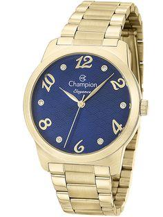 Relógio Champion Elegance Feminino Dourado CN26108A
