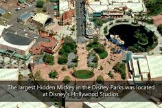 Hidden Mickey from Disney-MGM Studios (before the hat icon was added in Fall You can even see his eyes and nose! This appears to be pre-ToT, Hollywood Hills Amphitheater (Fantasmic!) and RnRC. Disney Parks, Walt Disney World, Disney World Facts, Disneyland Secrets, Disney Secrets, Disneyland Parks, Hidden Mickey, Disney Theme, Disney Love