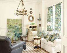 Using bold colors – especially greens and blues – can be a little scary. So we asked our friends at Traditional Home to pick their favorite paint colors. Then we used them as our inspiration to take several rooms from staid to stellar. You'll find TH's reasons to love it on each paint chip.