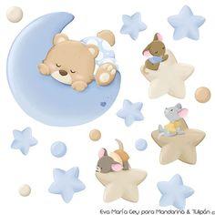Teddy Bear Cakes, Baby Shawer, Baby Embroidery, Baby Scrapbook, Baby Decor, Cute Illustration, Baby Elephant, Nursery Art, Nursery Fabric