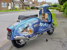 Custom lambretta Dystopia Retro Scooter, Lambretta Scooter, Vespa Scooters, Motor Scooters, Automobile, Motorcycle, Airbrush, Garage, Fan