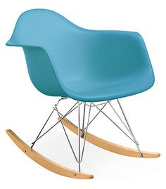 Eames® Molded Plastic Armchair Rocker with Maple Base - Room & Board