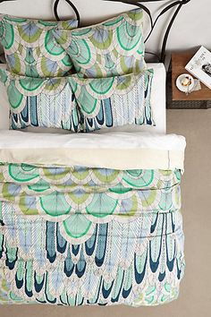 Mara Hoffman Duvet - anthropologie.com AND A LITTLE GREEN.....tranquil colors and pattern