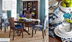 Go, go, indigo in the dining room!