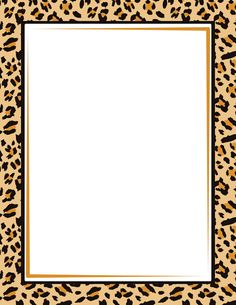 Border featuring a leopard print design. Free GIF, JPG, PDF, and PNG downloads at http://pageborders.org/download/leopard-print-border/