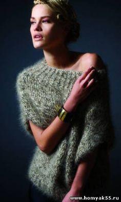 Вязаный пуловер из мохера. Обсуждение на LiveInternet - Российский Сервис Онлайн-Дневников