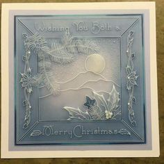Thanks for popping in. We're at Ally Pally today. And we are streaming a live Clarity TV show from there at So finger. Christmas Cards 2018, Xmas Cards, Vellum Crafts, Parchment Design, Parchment Cards, Handmade Stamps, Newspaper Crafts, Card Patterns, Fall Cards