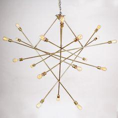 Lampa wisząca Brass Atom XL Schwung Home