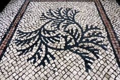 Macau Tiled Streets (Leave Pattern) - Photo taken by BradJill