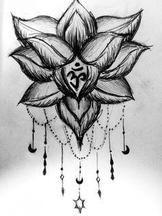 inner peace lotus flower om symbol buddhism