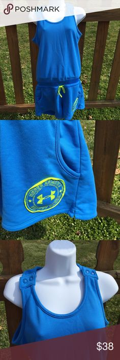 Under Armour Heat Gear Romper Size Medium Size medium. Super gently preowned. Be sure to view the other items in our closet. We offer both women's and Mens items in a variety of sizes. Bundle and save!! Thank you for viewing our item!! Under Armour Pants Jumpsuits & Rompers