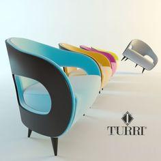 """PROFI"" TURRI Miller 3dsMax 2012 + fbx (Vray) : Кресла : Файлы : 3D модели, уроки, текстуры, 3d max, Vray"