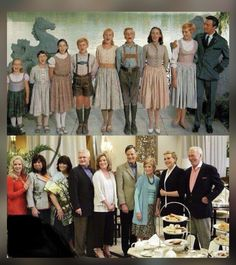 The reunion of The Sound of Music family after 45 years. Why is it that Julie Andrews looks better than some of the kids? ^Because Julie Andrews is a time lord. Cinema Tv, Films Cinema, I Love Cinema, Julie Andrews, I Smile, Make Me Smile, Movies Showing, Movies And Tv Shows, Sound Of Music Family