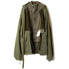 60%OFF 【D.TT.K OAO】TYPE3 KHAKI JACKET/KHAKI (4.365.415 IDR) ❤ liked on Polyvore featuring outerwear, jackets, faux-leather jackets, synthetic jacket, brown faux-leather jackets, tt collection and brown jacket