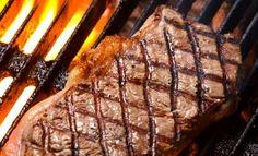 Entrecote steak på grillen