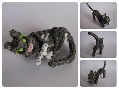 Loombicious 3D cat tutorial on the Rainbow Loom
