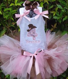 Cowgirl Birthday Number Tutu Set by SweetBellaz on Etsy, $40.00