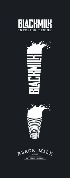 Black milk logo by Gaslight TF, via Behance