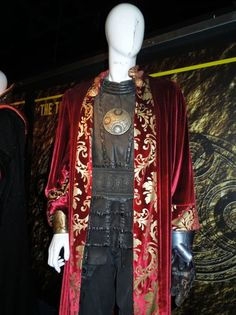 "From ""Doctor Who"" (2005) worn by Timothy Dalton as Lord Presdient Rassilon design by Louise Page (The End of Time: Part Two)."