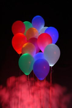 lit balloons...so cool