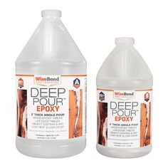 Clear Deep Pour 2 in. Thick Single Pour Ratio River Table Epoxy - The Home Depot - resin - WiseBond gal. Clear Deep Pour 2 in. Countertop Refinishing Kit, Countertop Kit, Painting Countertops, Resin Countertops, Home Depot, Epoxy Wood Table, Diy Resin River Table, Epoxy Table Top, Clear Epoxy Resin