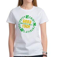 HSPD Good Luck T Shirt  #hspd #stpatricksday #stpaddy #irish #goodluck #typography #shirts #women