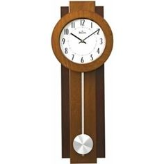 Bulova C3383 Avent Wooden Two-tone Walnut and Pendulum Wall Clock