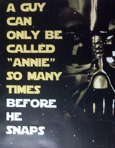 Anakin Skywalker's REAL issue.