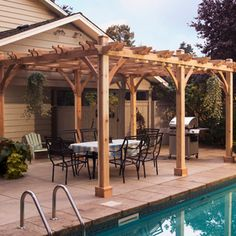 Transform your patio into something extraordinary. Our largest Pergola will add beauty and elegance to any situation. Cedar: it's the natural choice! Pergola Features - Western Red Cedar Walls and Fra