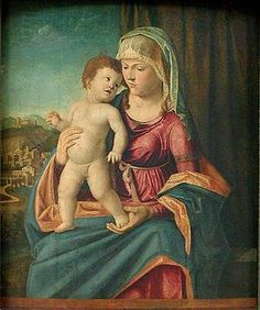 Madonna col Bambino AutoreCima da Conegliano Data1504-1507 TecnicaOlio su tavola Dimensioni71 cm × 48 cm  UbicazioneMuseo del Louvre, Parigi