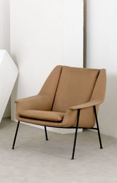 Walter Knoll; Enameled Metal Lounge Chair for Cassina, 1950s.