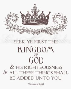 Matthew 6:33 - One of my early favourite verses