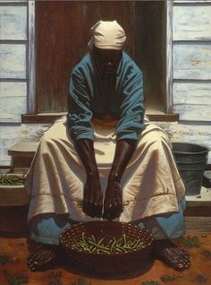 Kadir Nelson.___ Such beautiful hands! And forearms! Her hands remind me of my mother's...
