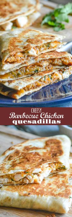Crispy quesadillas fit the bill for so many occasions. Lunch, dinner, even a Game Day snack these quick & easy Cheesy Barbecue Chicken Quesadillas are sure to be a home run with whatever crew you're serving.