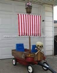 Pirate Ship Wagon and Pirate Costume