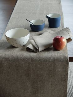 Holly bowl Canvas Cloth and Bowl Porcelain and Linen Cast Porcelain Libeco Linen Napkin Home Collection