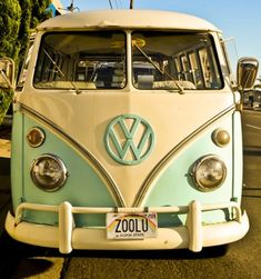 Vintage--I want it!  Beautiful microbus. I want one of these. They are so cool ((: