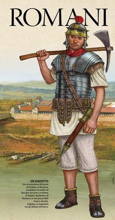 Giorgio Albertini. Legionnaire on the construction of an aqueduct.