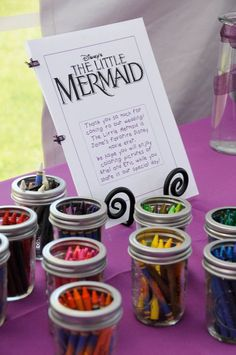 "Good idea! Not with the little mermaid but I think I'll let Mason pick out the ""theme"" for the kids"