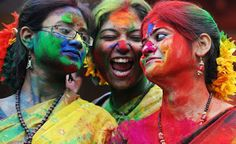 "Experience the colorful Holi festival with Ananda College Of Living Wisdom while we travel in India this winter. Photo credit: ""Holi Celebrations"" by Raghuvanshidude Holi Colors, Holi Festival Of Colours, Festivals Of India, Indian Festivals, Lord Krishna, Holi Girls, Happy Holi Images, Holi Wishes, Holi Celebration"