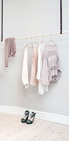 Via http://NordicDays.nl | Minimalistic Clothing Rack